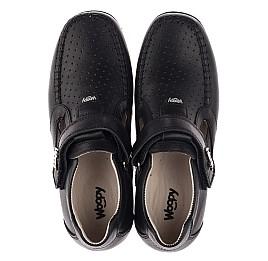 Детские туфли Woopy Orthopedic черные для мальчиков натуральная кожа размер 26-37 (3738) Фото 5