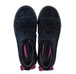 Детские кеды Woopy Orthopedic темно-синие для девочек натуральная замша размер 23-32 (3741) Фото 5