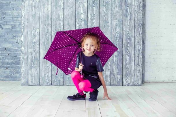 Девочка обута в детские кеды Woopy Orthopedic темно-синие (3741) Фото 1