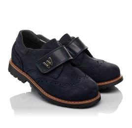 Детские туфли Woopy Orthopedic темно-синие для мальчиков натуральный нубук размер 36-39 (3742) Фото 1