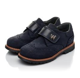 Детские туфли Woopy Orthopedic темно-синие для мальчиков натуральный нубук размер 36-39 (3742) Фото 3