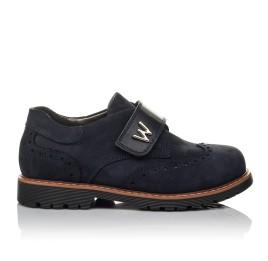Детские туфли Woopy Orthopedic темно-синие для мальчиков натуральный нубук размер 36-39 (3742) Фото 4
