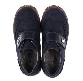 Детские туфли Woopy Orthopedic темно-синие для мальчиков натуральный нубук размер 36-39 (3742) Фото 5