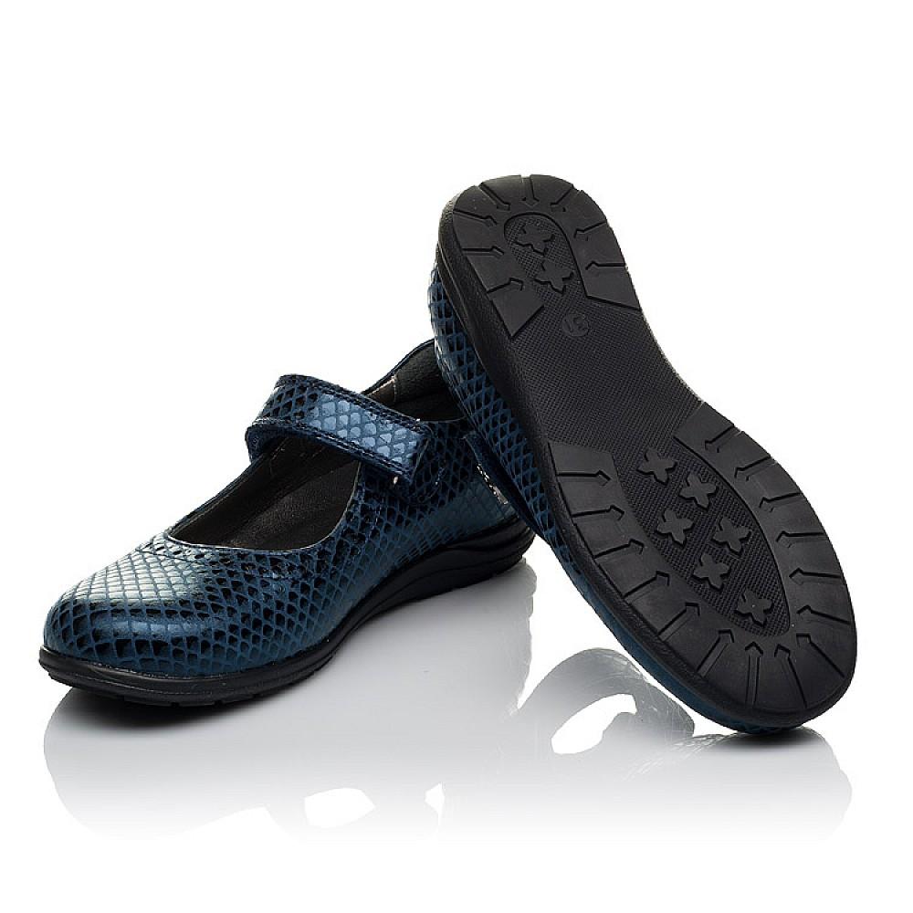 Детские туфли Woopy Orthopedic синие для девочек натуральная кожа размер 31-36 (3743) Фото 2