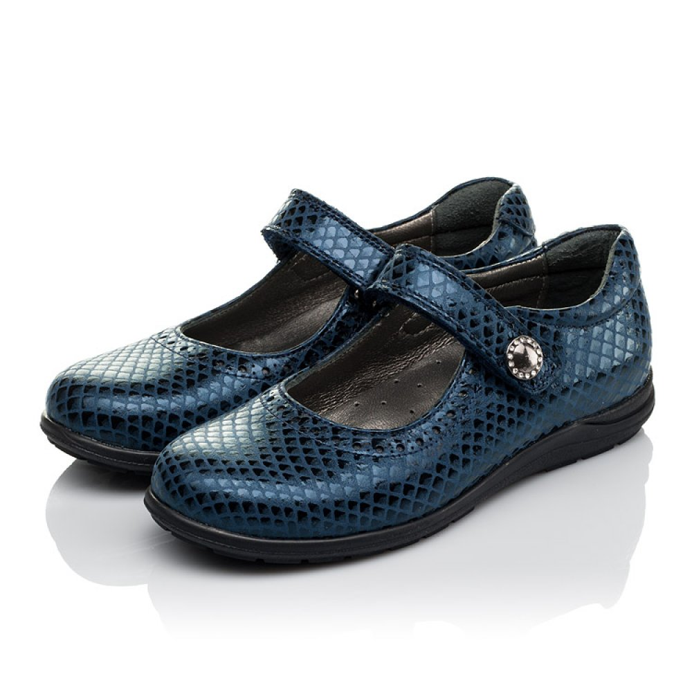 Детские туфли Woopy Orthopedic синие для девочек натуральная кожа размер 31-36 (3743) Фото 3