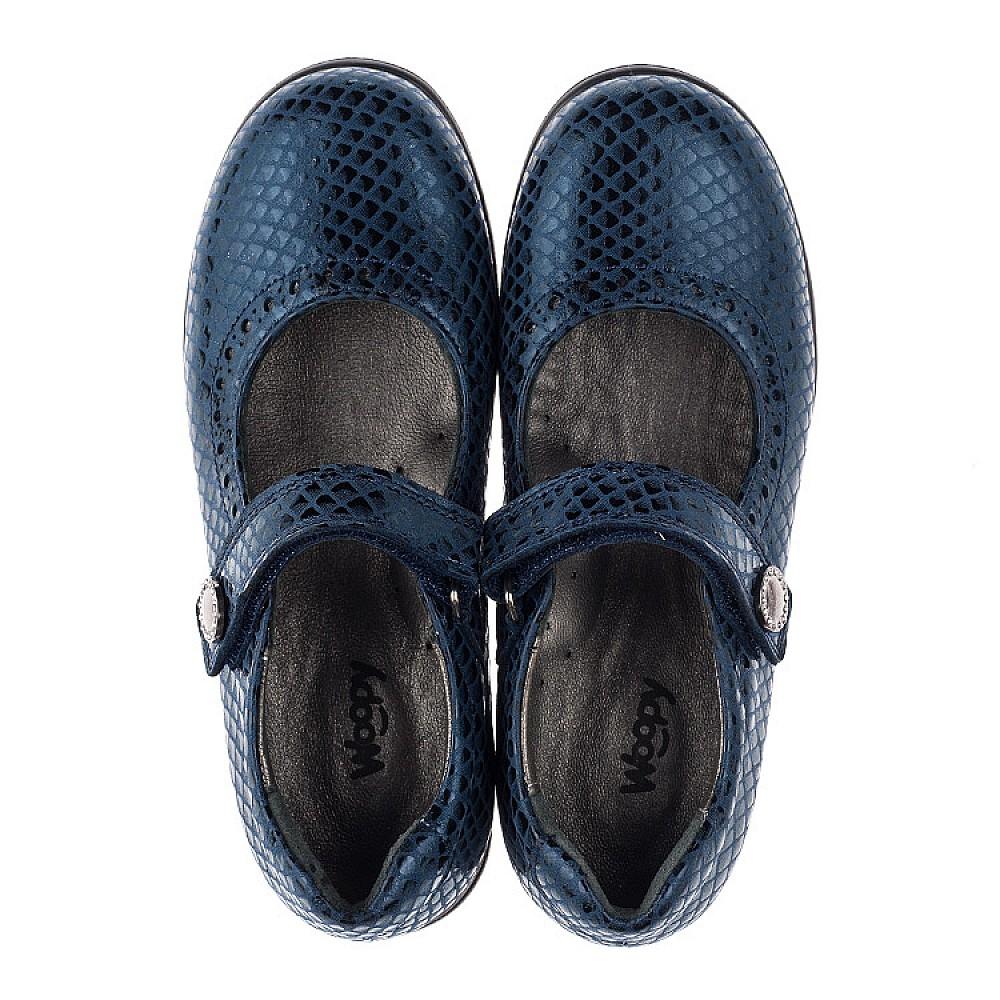 Детские туфли Woopy Orthopedic синие для девочек натуральная кожа размер 31-36 (3743) Фото 5