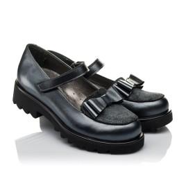 Детские туфли Woopy Orthopedic серые для девочек  натуральная кожа размер 36-37 (3744) Фото 1