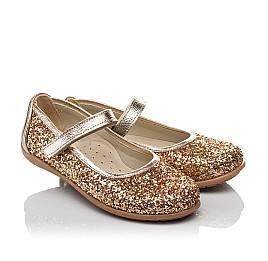 Детские туфли Woopy Orthopedic золотые для девочек современный искусственный материал размер 26-30 (3745) Фото 1