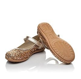 Детские туфли Woopy Orthopedic золотые для девочек современный искусственный материал размер 26-30 (3745) Фото 2