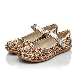 Детские туфли Woopy Orthopedic золотые для девочек современный искусственный материал размер 26-30 (3745) Фото 3