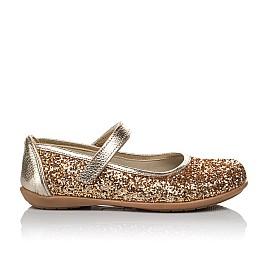 Детские туфли Woopy Orthopedic золотые для девочек современный искусственный материал размер 26-30 (3745) Фото 4