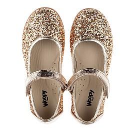 Детские туфли Woopy Orthopedic золотые для девочек современный искусственный материал размер 26-30 (3745) Фото 5