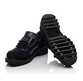 Детские туфли Woopy Orthopedic синие для девочек натуральная кожа, замша размер 31-39 (3749) Фото 2
