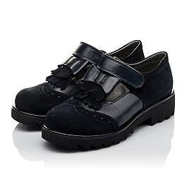 Детские туфли Woopy Orthopedic синие для девочек натуральная кожа, замша размер 31-39 (3749) Фото 3