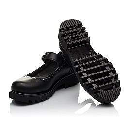 Детские туфли (застежка липучка) Woopy Orthopedic черные для девочек  натуральная кожа размер 31-38 (3750) Фото 2