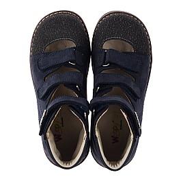 Детские ортопедичні туфлі (з високим берцем) Woopy Orthopedic синие для мальчиков натуральный нубук размер 33-36 (3751) Фото 5