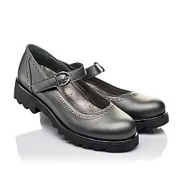 Детские туфли Woopy Orthopedic серые для девочек  натуральная кожа размер 39-39 (3752) Фото 1
