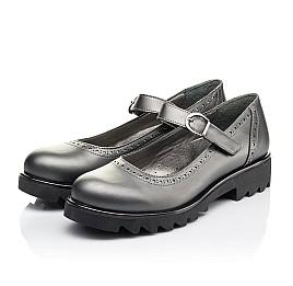 Детские туфли Woopy Orthopedic серые для девочек  натуральная кожа размер 39-39 (3752) Фото 3