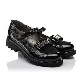 Детские туфли Woopy Orthopedic черные для девочек натуральная лаковая кожа размер 32-37 (3753) Фото 1