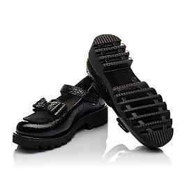 Детские туфли Woopy Orthopedic черные для девочек натуральная лаковая кожа размер 32-37 (3753) Фото 2