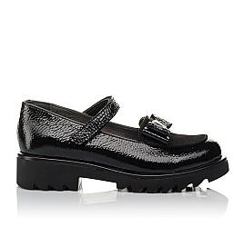 Детские туфли Woopy Orthopedic черные для девочек натуральная лаковая кожа размер 32-37 (3753) Фото 4