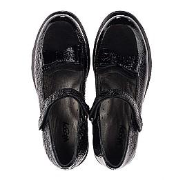 Детские туфли Woopy Orthopedic черные для девочек натуральная лаковая кожа размер 32-37 (3753) Фото 5