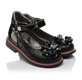 Детские туфли ортопедические Woopy Orthopedic черные для девочек натуральная кожа / лаковая кожа размер 28-33 (3754) Фото 1