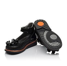 Детские туфли ортопедические Woopy Orthopedic черные для девочек натуральная кожа / лаковая кожа размер 28-33 (3754) Фото 2