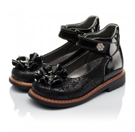 Детские туфли ортопедические Woopy Orthopedic черные для девочек натуральная кожа / лаковая кожа размер 28-33 (3754) Фото 3