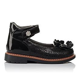 Детские туфли ортопедические Woopy Orthopedic черные для девочек натуральная кожа / лаковая кожа размер 28-33 (3754) Фото 4