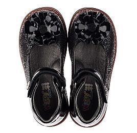 Детские туфли ортопедические Woopy Orthopedic черные для девочек натуральная кожа / лаковая кожа размер 28-33 (3754) Фото 5