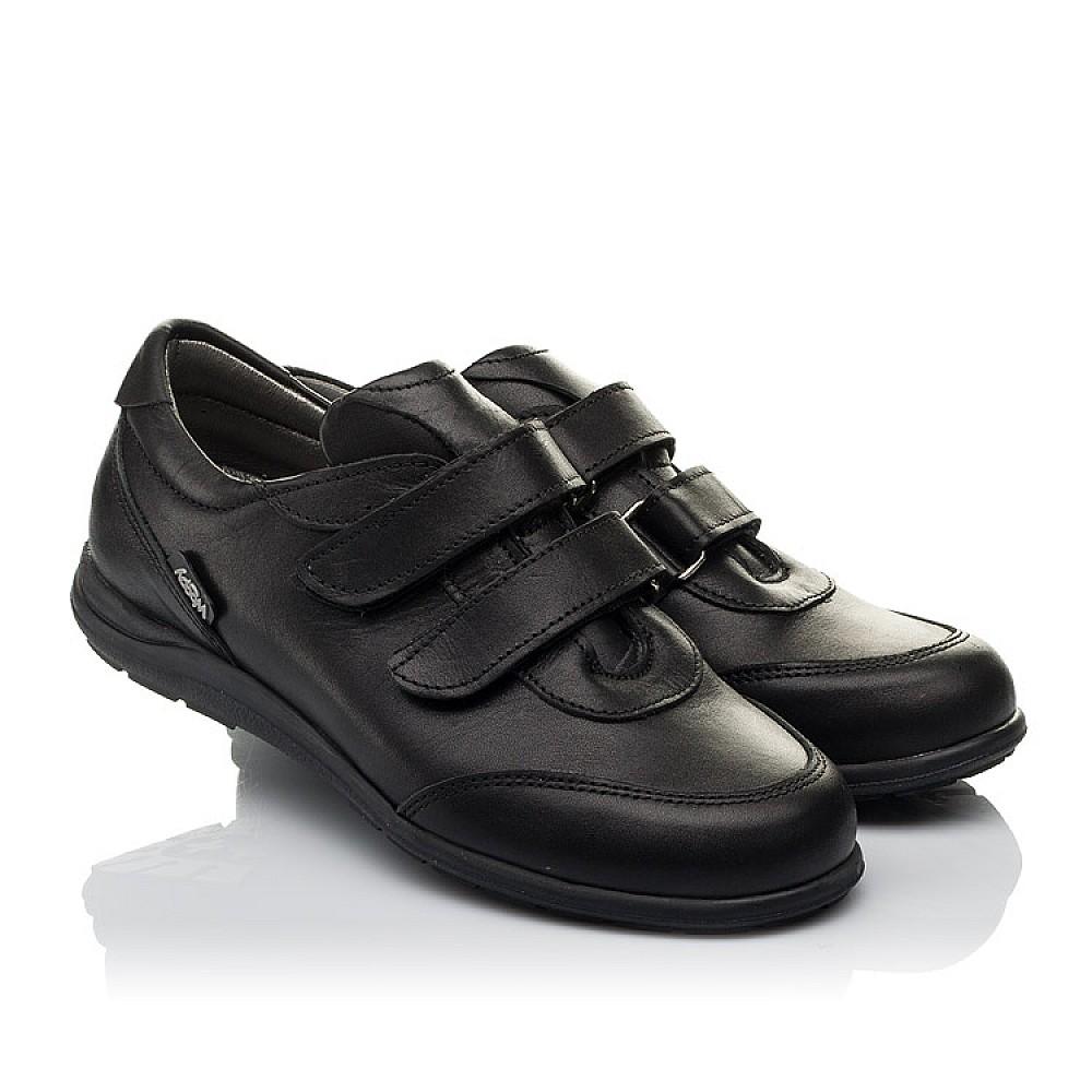 Детские туфли Woopy Orthopedic черные для мальчиков натуральная кожа размер 31-36 (3755) Фото 1