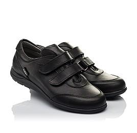 Детские туфли Woopy Orthopedic черные для мальчиков натуральная кожа размер 36-36 (3755) Фото 1