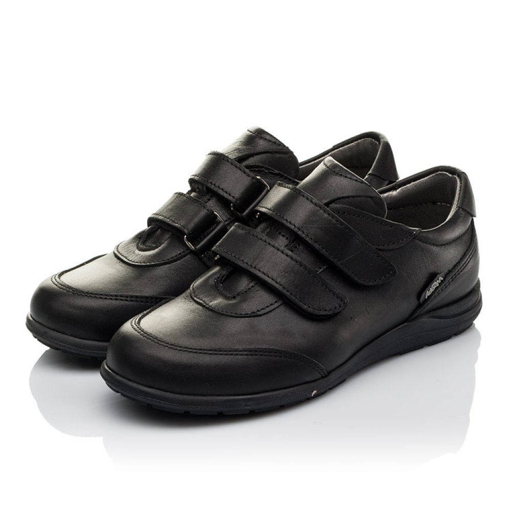 Детские туфли Woopy Orthopedic черные для мальчиков натуральная кожа размер 31-36 (3755) Фото 3