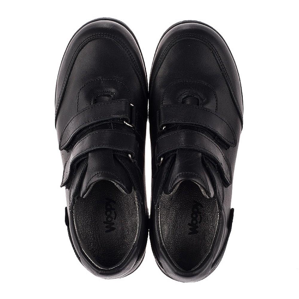 Детские туфли Woopy Orthopedic черные для мальчиков натуральная кожа размер 31-36 (3755) Фото 5