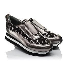 Детские кроссовки Woopy Orthopedic серебряные для девочек  натуральная кожа размер 33-40 (3756) Фото 1