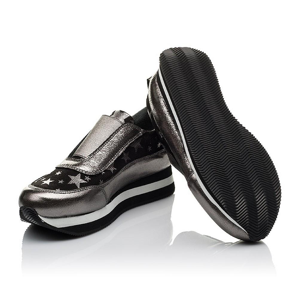 Детские кроссовки Woopy Orthopedic серебряные для девочек натуральная кожа размер 33-40 (3756) Фото 2