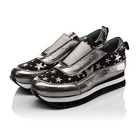 Детские кроссовки Woopy Orthopedic серебряные для девочек  натуральная кожа размер 33-40 (3756) Фото 3