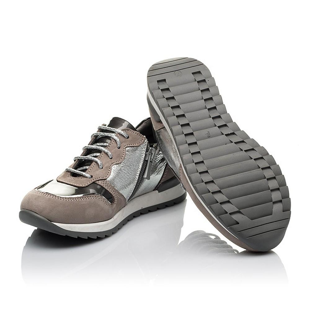 Детские кроссовки Woopy Orthopedic серые для девочек натуральный нубук и кожа размер 29-39 (3757) Фото 2