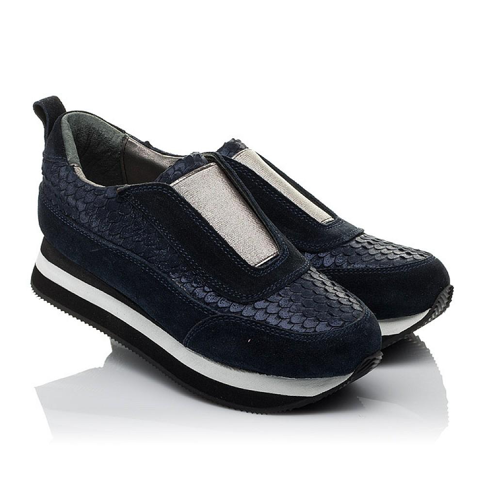 Детские кроссовки Woopy Orthopedic синие для девочек натуральная замша размер 31-40 (3758) Фото 1
