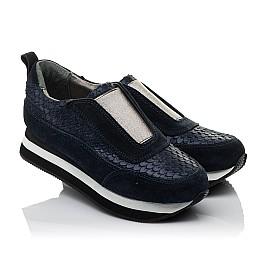 Детские кроссовки Woopy Orthopedic синие для девочек натуральная замша размер 31-31 (3758) Фото 1