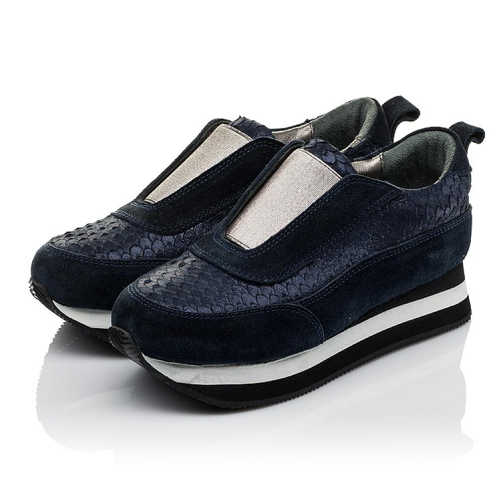 Детские кроссовки Woopy Orthopedic синие для девочек натуральная замша размер 31-40 (3758) Фото 3