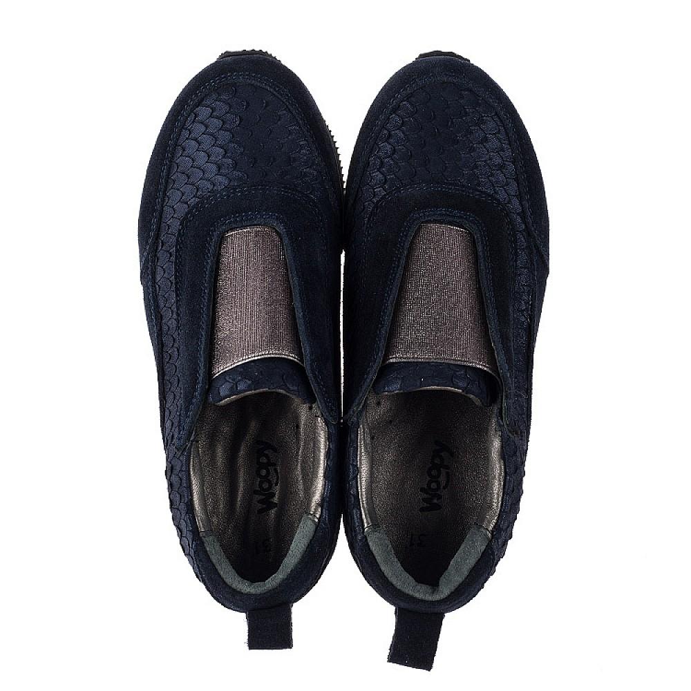 Детские кроссовки Woopy Orthopedic синие для девочек натуральная замша размер 31-40 (3758) Фото 5