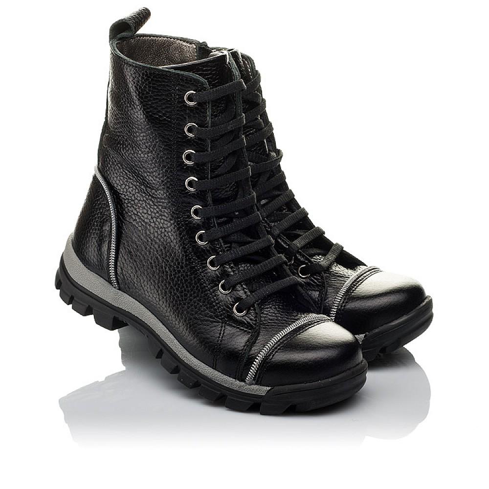 Детские демисезонные ботинки Woopy Orthopedic черный для девочек натуральная кожа размер 31-36 (3759) Фото 1