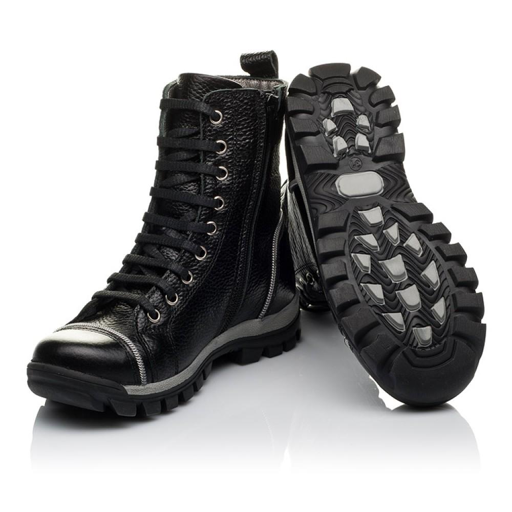 Детские демисезонные ботинки Woopy Orthopedic черный для девочек натуральная кожа размер 31-36 (3759) Фото 2