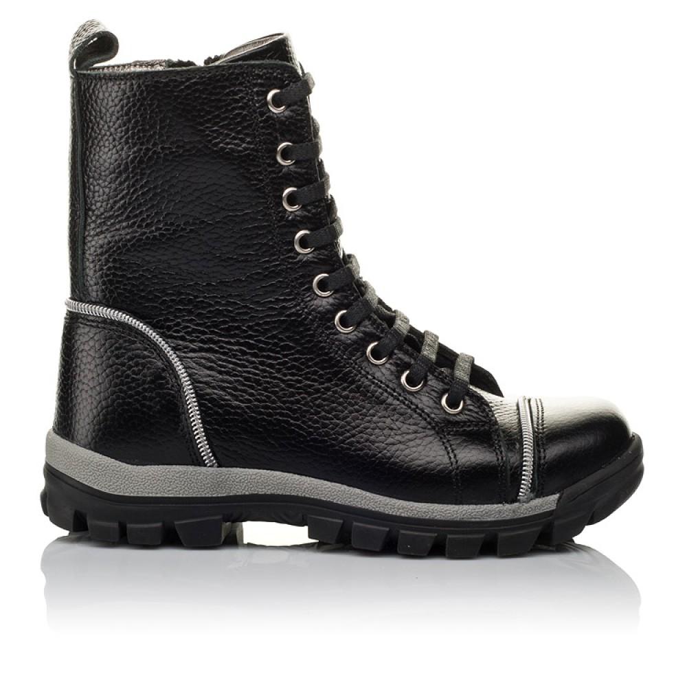Детские демисезонные ботинки Woopy Orthopedic черный для девочек натуральная кожа размер 31-36 (3759) Фото 4