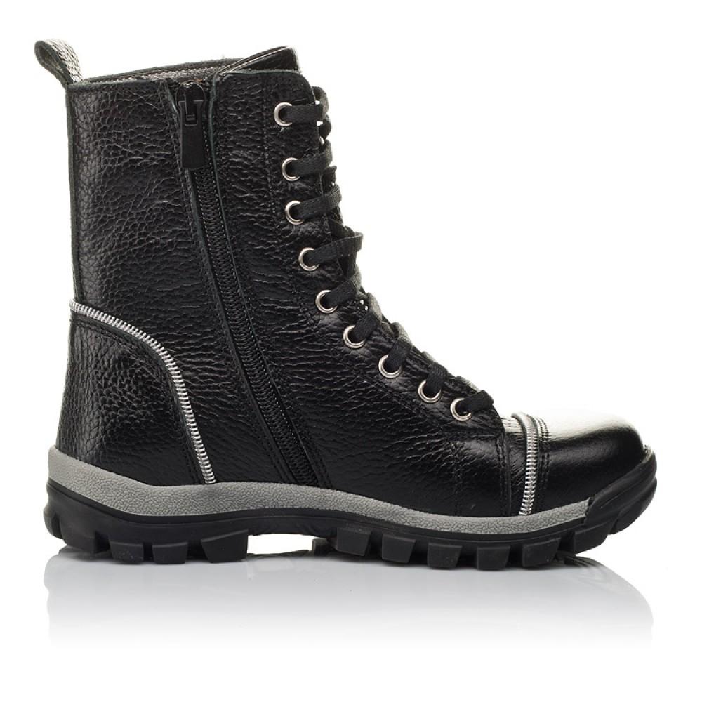 Детские демисезонные ботинки Woopy Orthopedic черный для девочек натуральная кожа размер 31-36 (3759) Фото 5