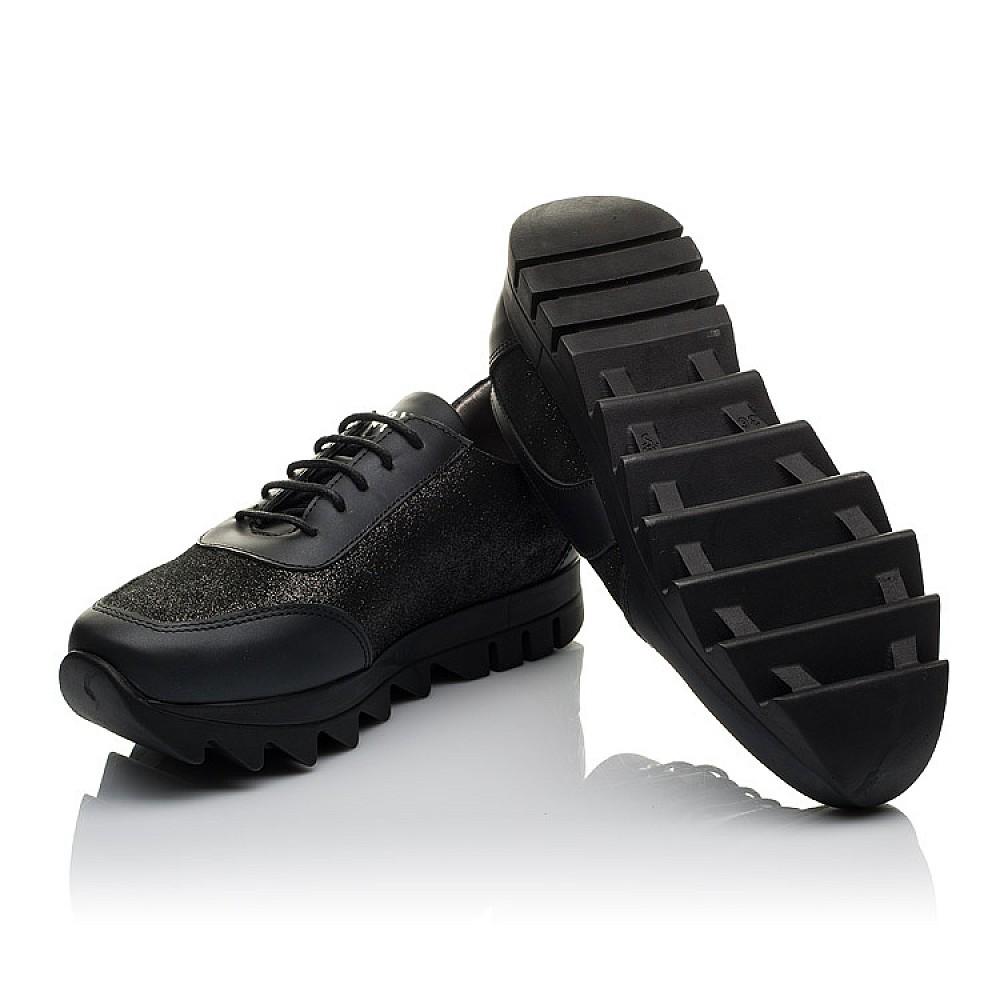 Детские кроссовки (шнурок резинка) Woopy Orthopedic черные для девочек натуральная кожа размер 36-40 (3760) Фото 2