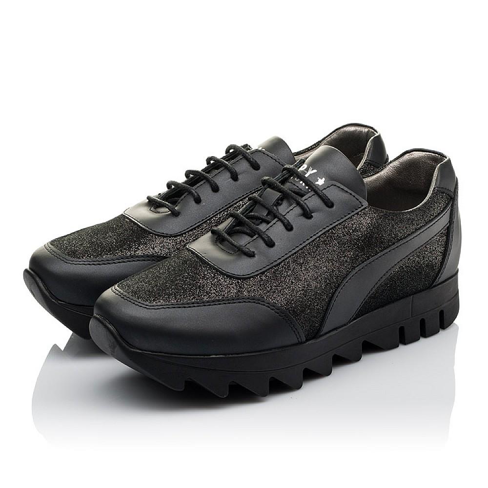 Детские кроссовки (шнурок резинка) Woopy Orthopedic черные для девочек натуральная кожа размер 36-40 (3760) Фото 3