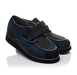 Детские туфли Woopy Orthopedic темно-синие для девочек натуральный замш размер 31-37 (3761) Фото 1